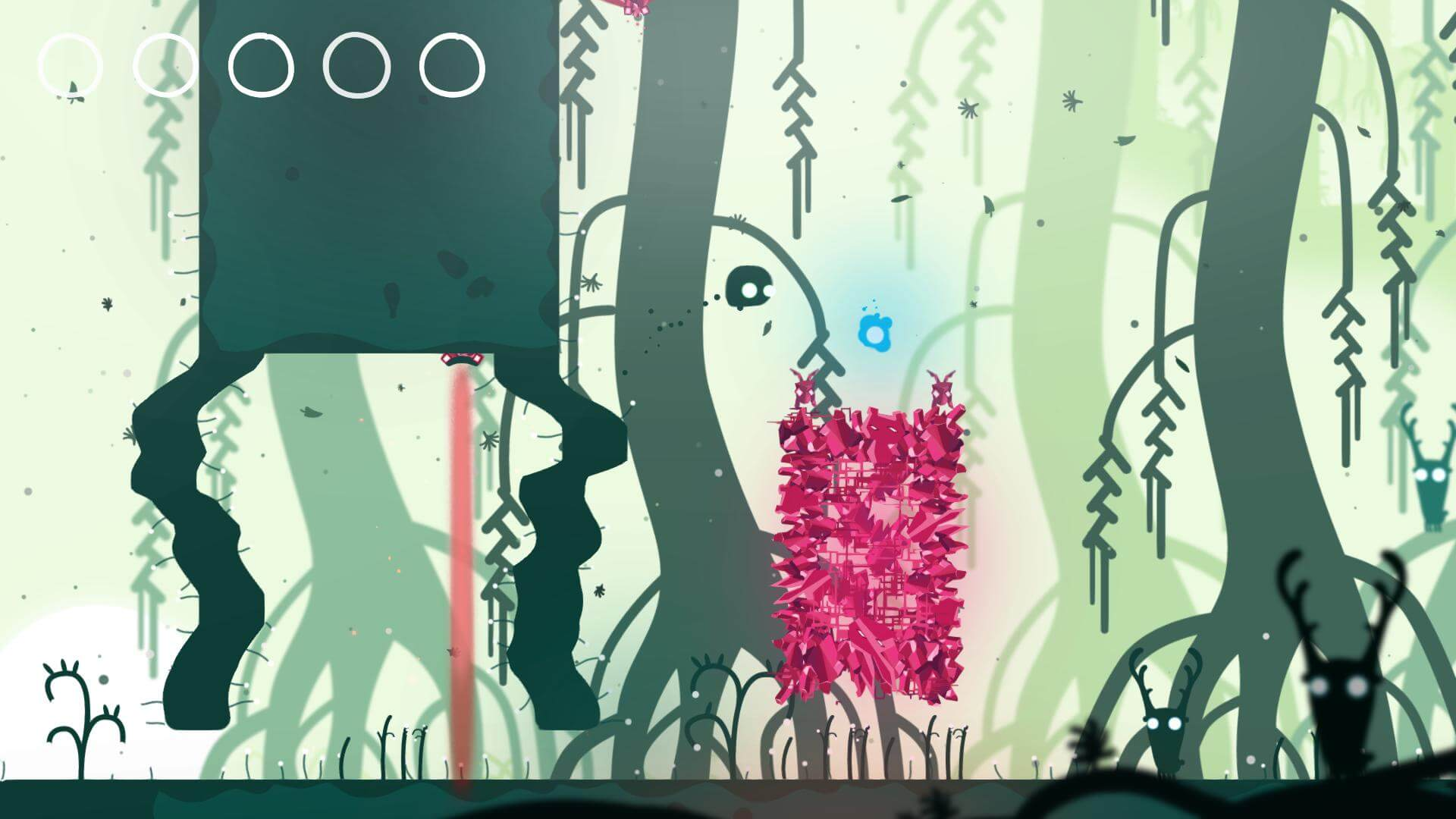 Semblance allows platforms to act as trampolines when reset